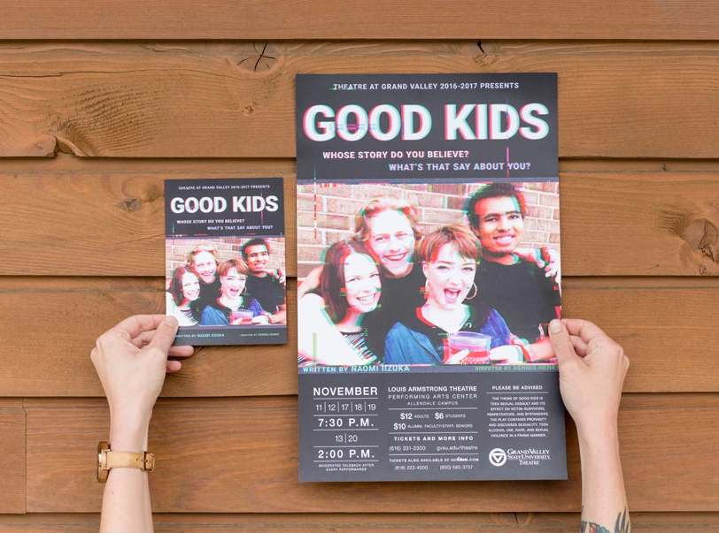 Good Kids Theatre Production Poster and Postcard